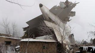 Крупный пожар  на месте авиакатастрофы Boeing 747 под Бишкеком  видео(Пожар#Катастрофа#Самолет#ЧС#Жертвывзрыва#Трагедия#Ужас#Бишкек# Шокирующие кадры из Бишкека, где турецкий..., 2017-01-16T13:12:52.000Z)