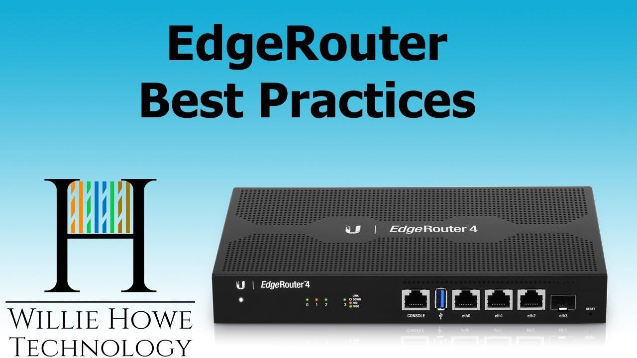 Ubiquiti EdgeRouter Best Practices 1