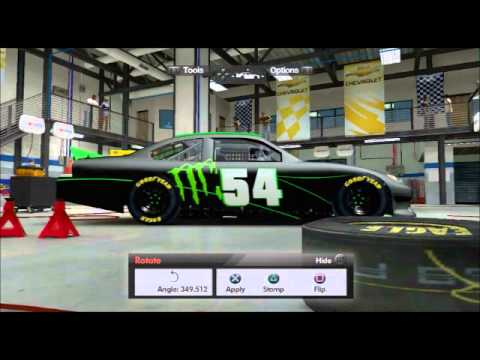 Nascar The Game: Inside Line Custom Monster Energy Car - YouTube