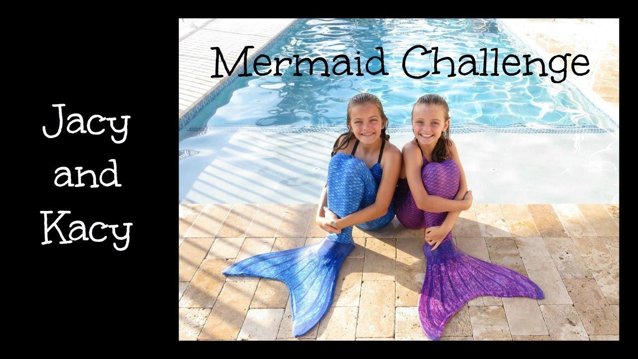 Mermaid Challenge ~ Jacy and Kacy - YouTube
