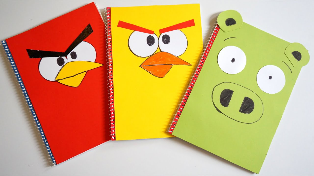 Notebook Cover Design Ideas Amazing Angry Birds Diy Designer Notebook Covers Tutorial  Back To School . Inspiration Design