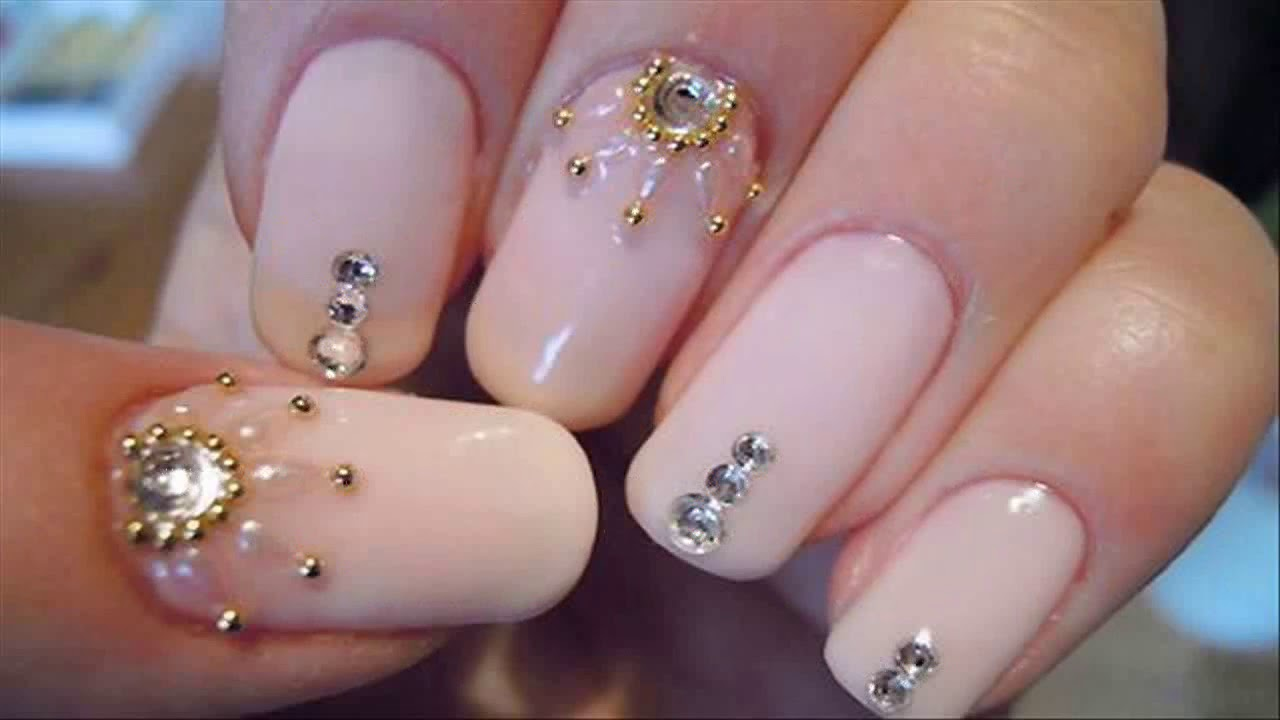 Uñas Decoradas Con Piedras Sencillas Faciles Y Bonitas Youtube
