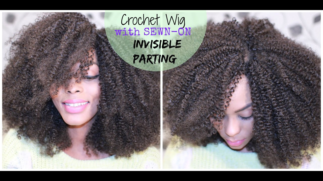 Crochet Hair Making : HAIR How to make a CROCHET WIG with a sewn- on INVISIBLE PARTING ...