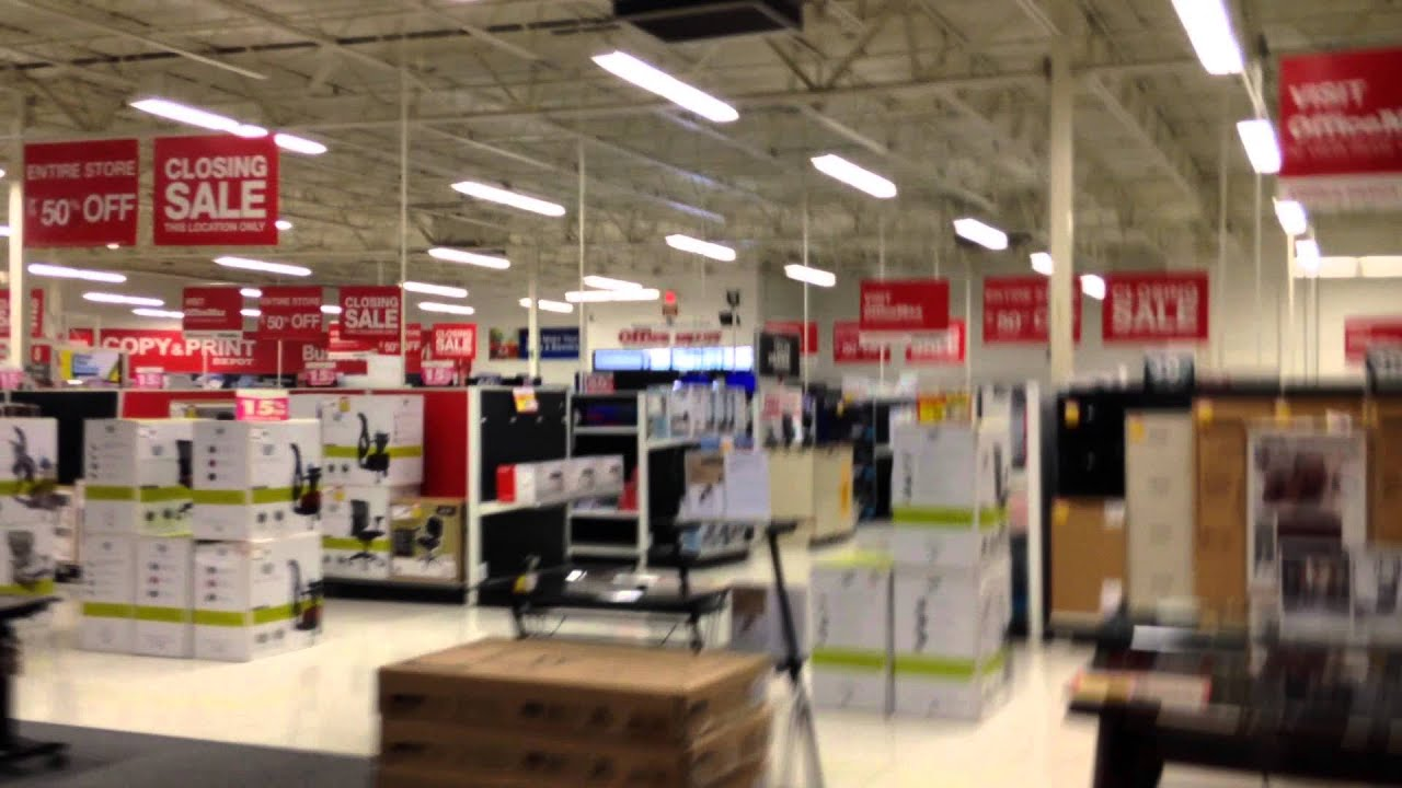 Superbe Tour Of Office Depot In Lewisville TX (Store Closing)