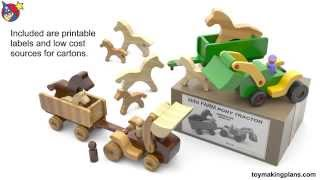 Wood Toy Plans - Mini Farm Pony Tractor