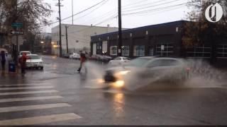 It rains a lot in Portland, Oregon