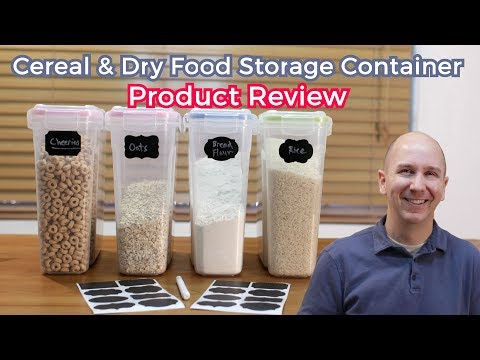 Cereal and Dry Food Storage Container Set by Palm Tree Chef | Product Review Episode 15 from YouTube · Duration:  4 minutes 43 seconds