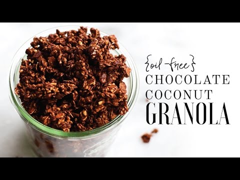 Oil-Free Chocolate Coconut Granola