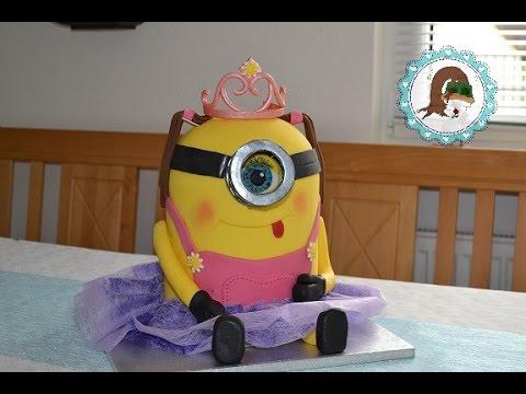 Minion Torte Prinzessin Minion Torte Motivtorten Von Purzel Cake