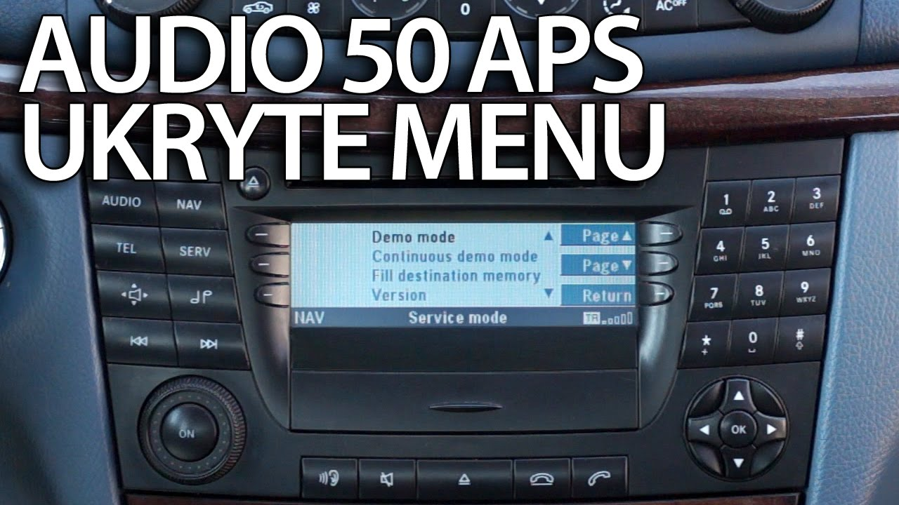 ukryte menu mercedes audio 50 aps engineering mode w211. Black Bedroom Furniture Sets. Home Design Ideas
