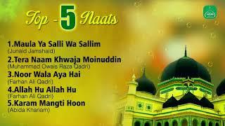 Gambar cover Top 5 Naats Collection || Nonstop Best Naat Sharif || Mp3 Naat || Naats Islamic