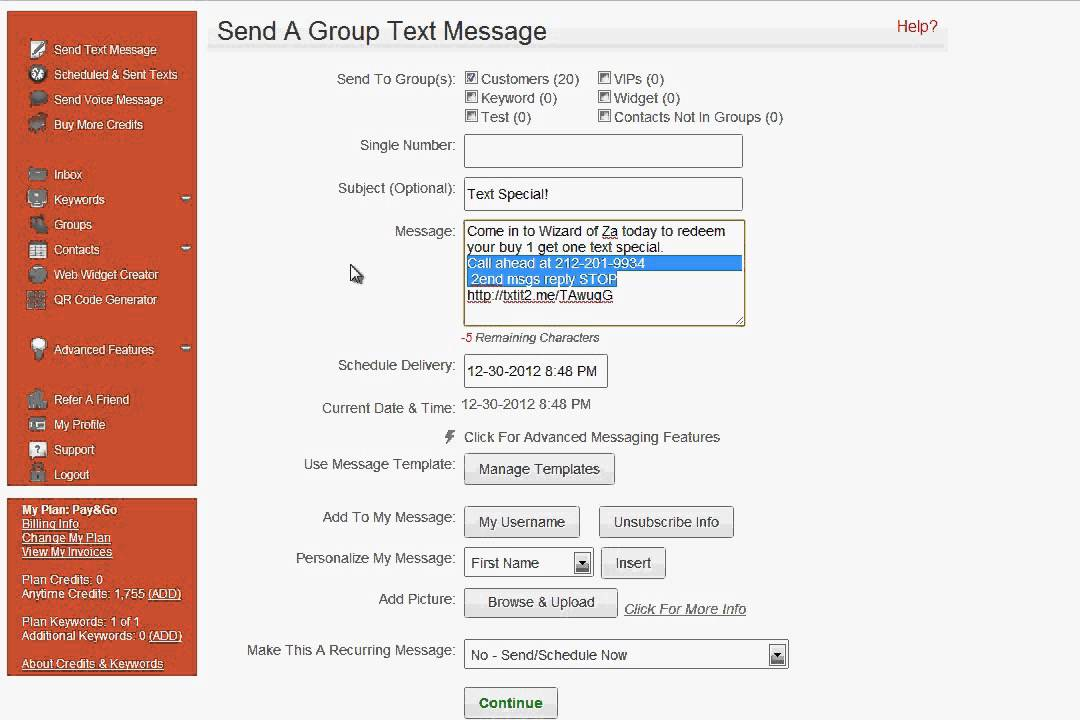 group texting how to  sending mass text message campaigns