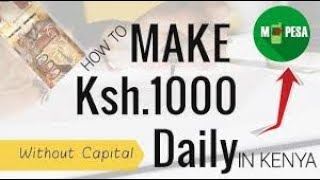 How To Make Ksh.1000 Daily In Kenya Via Safaricom PRSP Business