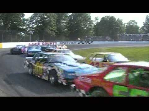 Lake County Speedway 2012 Memorial Day Street Stock Wreck