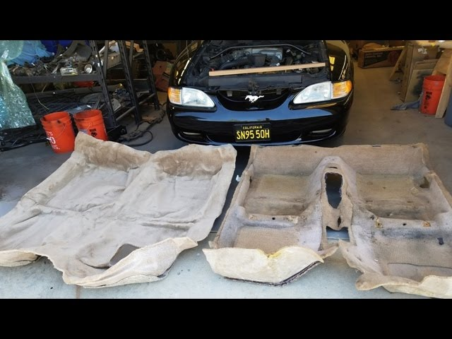 Auto Custom Carpet 1995 Mustang Gt Refresh Part 17 How To Replace Your Carpet Youtube