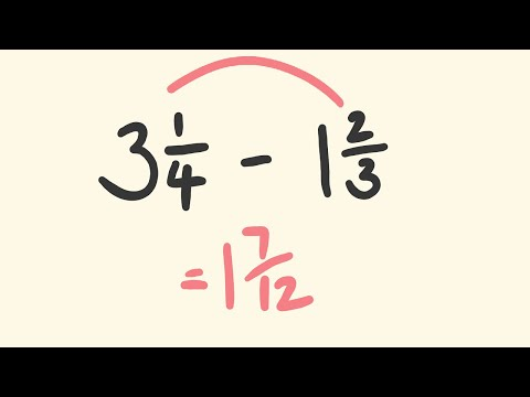Fractions Subtraction Trick - The Fast Way!