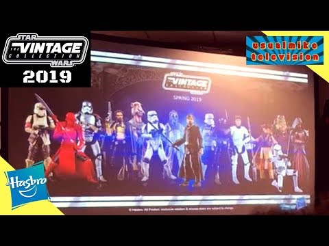 STAR WARS VINTAGE COLLECTION DEFINITIVE LIST FOR 2019 ACTION FIGURES COLLECTION PLUS EXCLUSIVES