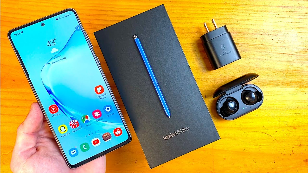 Samsung Galaxy Note 10 Lite Unboxing & First Impressions! - YouTube