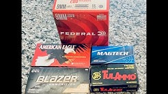 A review of budget friendly 9mm ammo for the range. How do these brands do in different pistols?