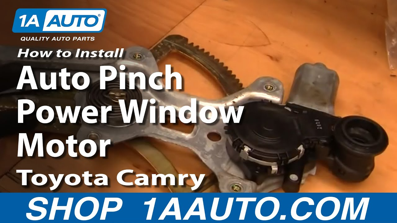 how to install replace reset auto pinch power window motor toyota camry 1aauto com youtube [ 1920 x 1080 Pixel ]