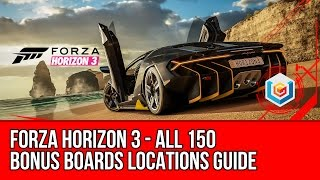 Forza Horizon 3 All 150 Bonus Boards Locations Guide (Who's Hiding These? Achievement)