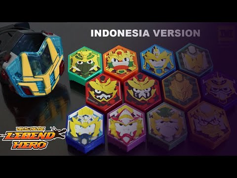 LEGEND HERO GANWU CHANGER DX ALL SOUND ! (Semua Suara) Indonesia Version 12 Hero Piece