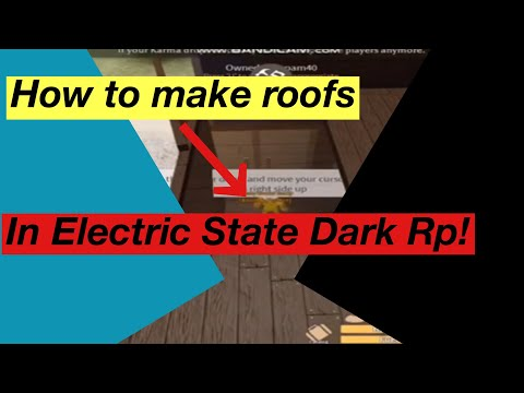 Roblox Electric State Dark Rp How To Build A Roof Youtube