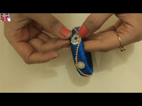 How To Design Silk Thread Kada Beautiful Kangan Bangle DIY At Home With Me Step by Step