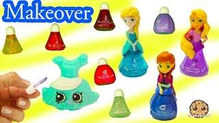 Shopkins Makeover with Disney Little Kingdom Queen Elsa Makeup & Frozen Princess Anna Lip Gloss