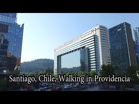 Santiago, Chile - Providencia, Walking to Costanera Center, the tallest building in South America