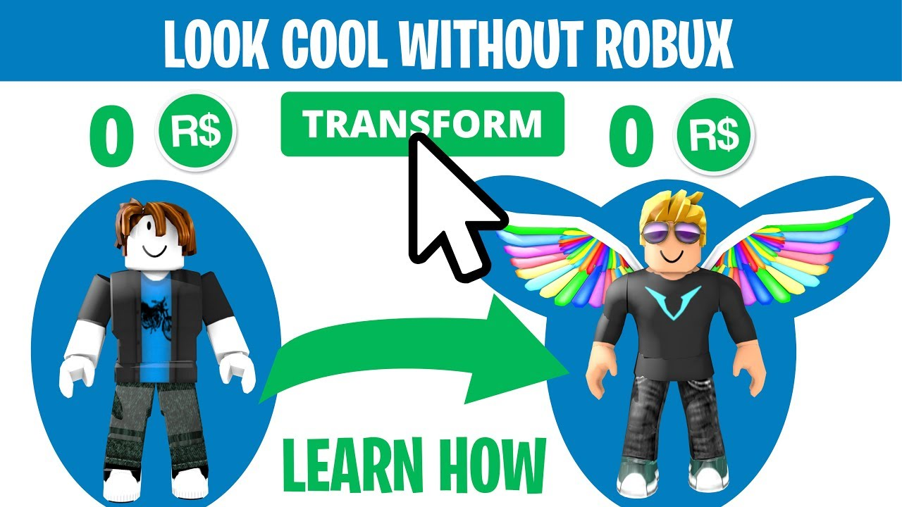 Roblox How To Make Your Avatar Look Cool Without Robux Youtube Make Your Roblox Character Look Cool Without Any Robux 2020 Youtube