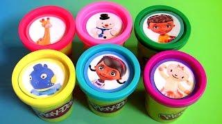 Massinhas Play Doh Surpresa do desenho Disney Doutora Brinquedos em Portugues BR
