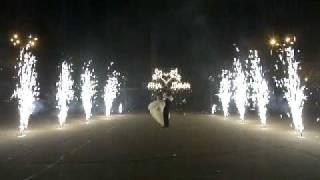 свадебная дорожка, надпись, фейерверк Кременчуг.AVI