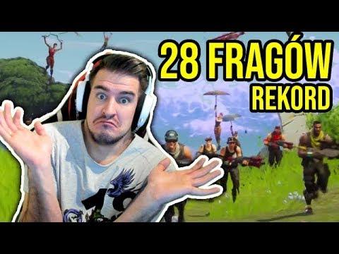 28 FRAGÓW SOLO NA SQUADY W FORTNITE!!!