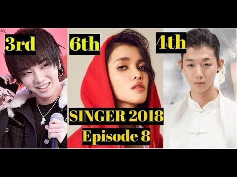 SINGER 2018 CHINA Official Ranking for Episode 8 l KZ Tandingan sings REAL GONE