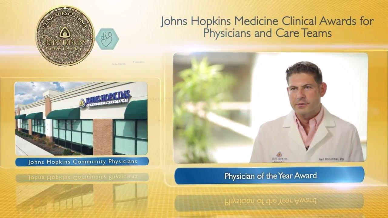 2017 Physician of the Year – Neil Rosenman, M D , Johns Hopkins Community  Physicians