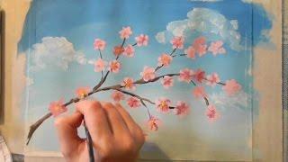 Как нарисовать веточку с цветами(Узнайте, как новичку научиться рисовать карандашом и красками: http://lessons-free.ru/paintdvd Новый урок по рисованию..., 2015-08-17T16:00:01.000Z)