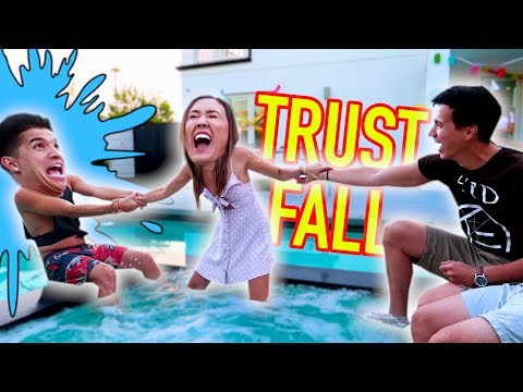 DONT LET GO BABY!! (Pool Trust Fall Challenge)