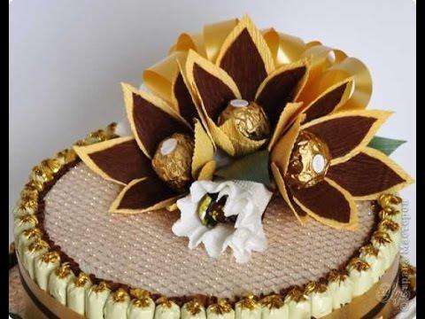 Торт  на 8 марта.  Оформление тортов.