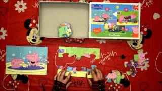 Peppa Pig jigsaw Puzzle,  children learning fun
