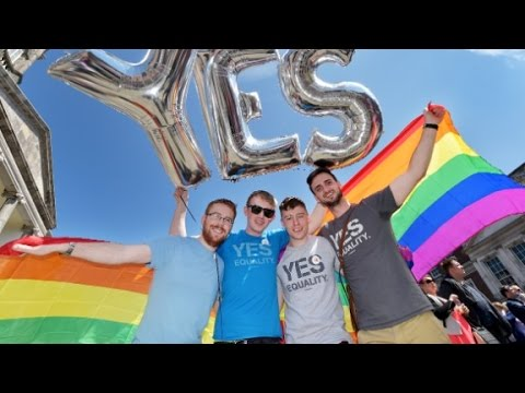 Thousands gather for gay marriage vote