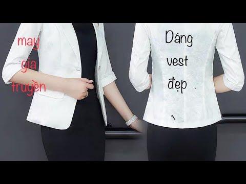Công Thức Cắt áo Vest Nữ Chuẩn Chỉ Hàn Quốc .phom đepj