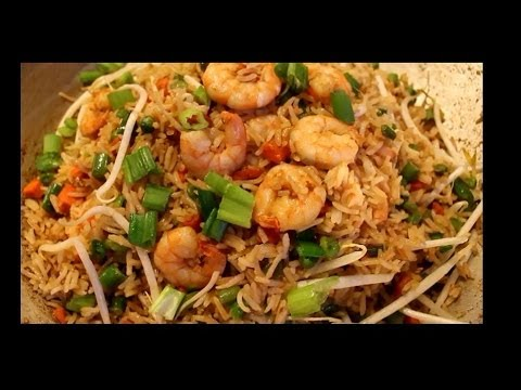 How To Make Fried Rice - Shrimp Fried Rice -Chinese Style - Fast & Easy Recipe EPISODE:154