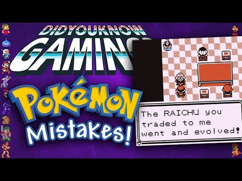Mistakes In Pokemon Games - Did You Know Gaming? Feat. Bobdunga