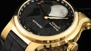 Renato Master Horologe Gold Moonphase Customized 2824 Automatic Alligator Strap Watch