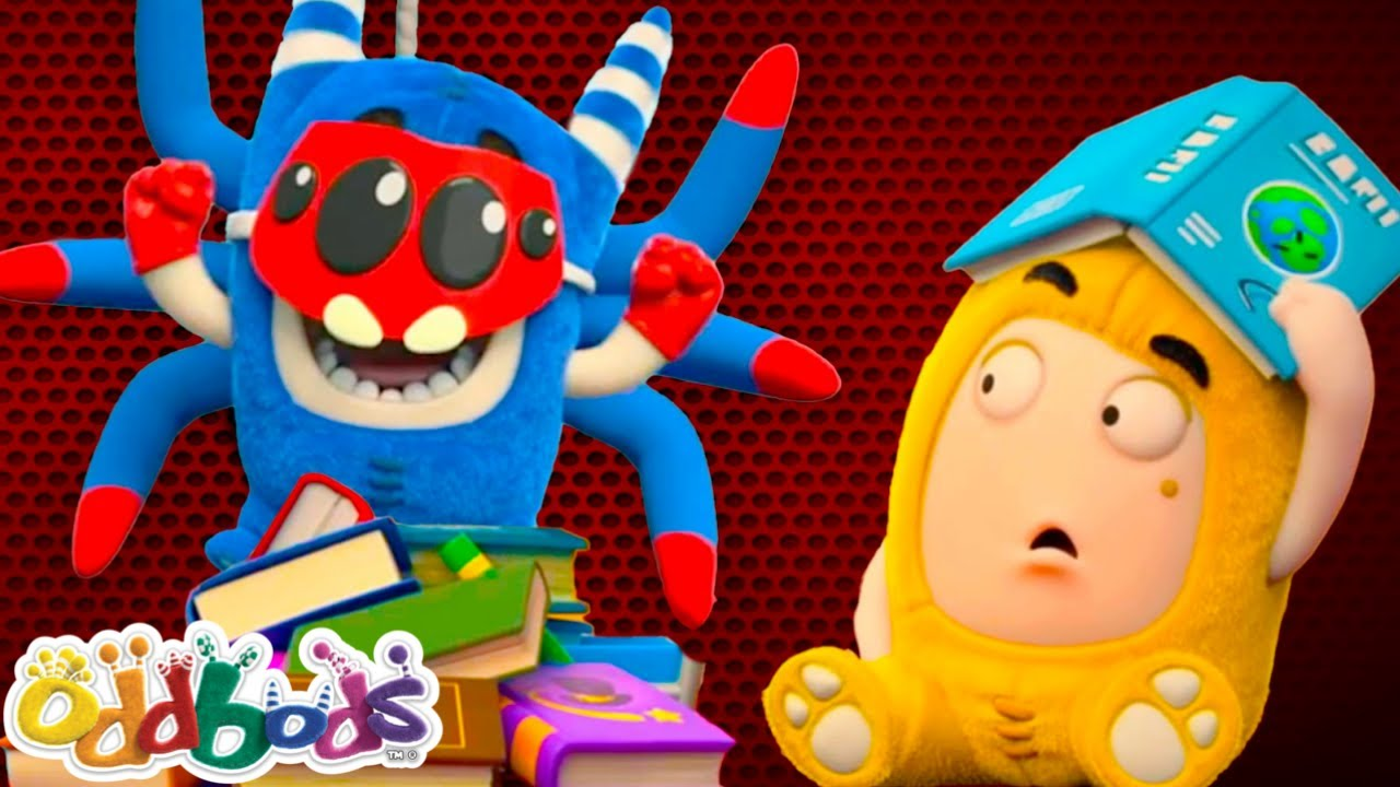 Oddbods 💠 New 🐛 Bookworm Loves Tales 📖 本の虫は物語を愛する ⭐ アニメ短編 - Funny cartoons for kids and teens