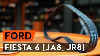 Vgradnja Rebrasti jermen FORD FIESTA VI: brezplačne video