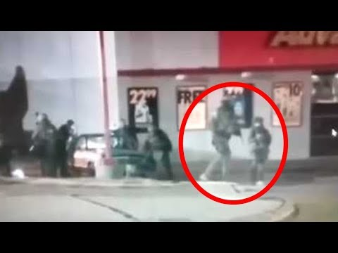 An Actual Giant Nephilim Soldier Caught On Camera In The US?
