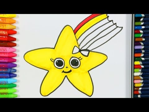 Star Coloring Pages ⭐| How to Draw | Coloring Books | Learn Colors for Children | How to Color