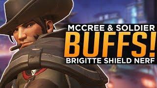 Overwatch: McCree & Soldier BUFFED! - Brigitte Shield NERFED!